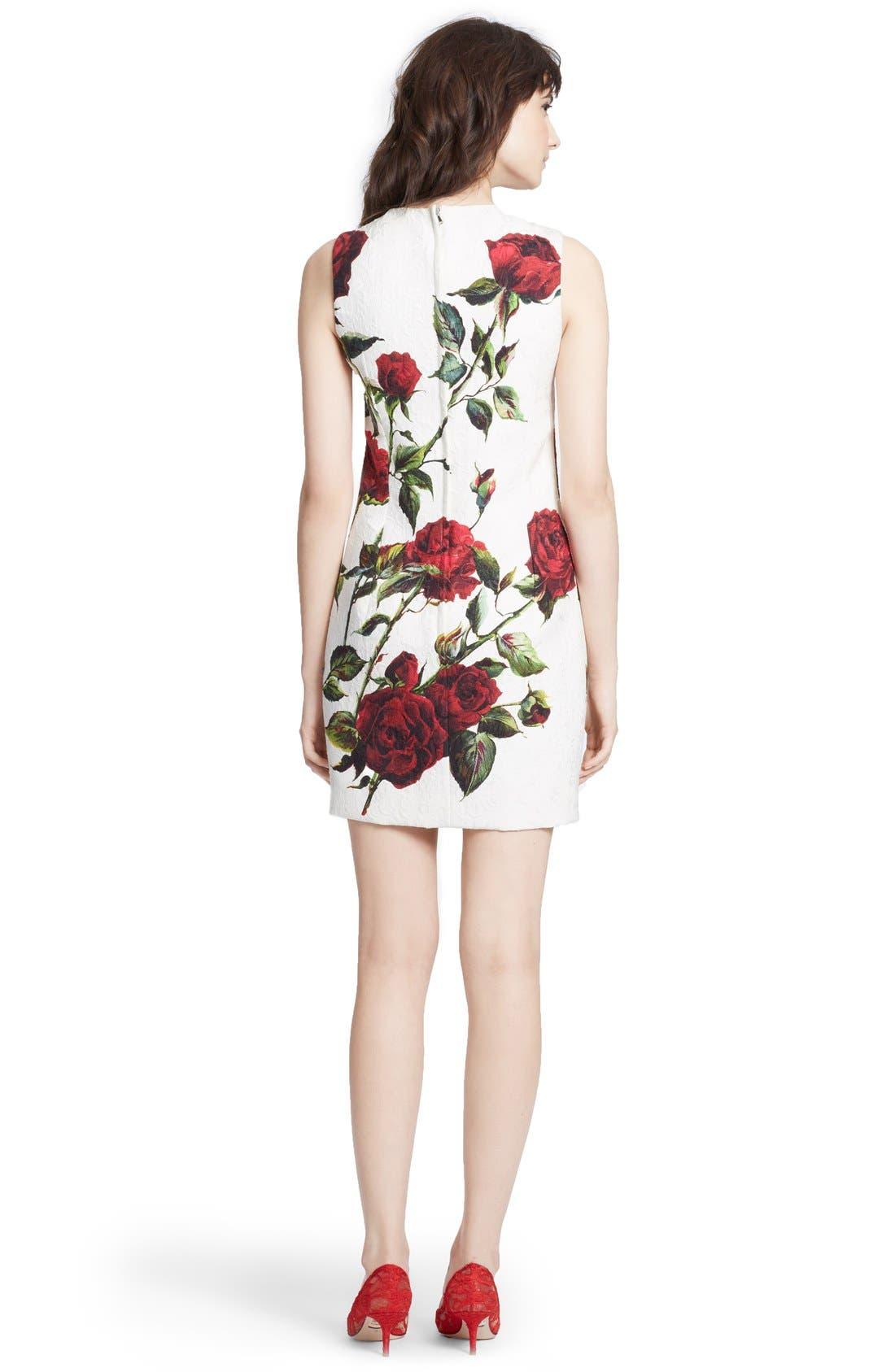 Alternate Image 2  - Dolce&Gabbana Rose Print Brocade Pencil Dress