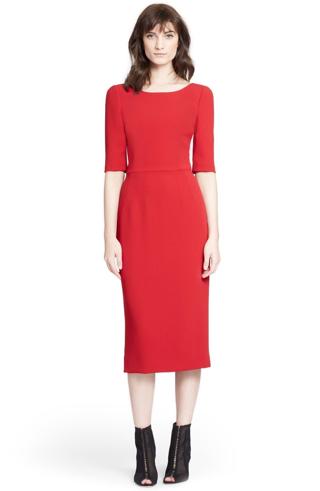 Alternate Image 1 Selected - Dolce&Gabbana V-Back Pencil Dress