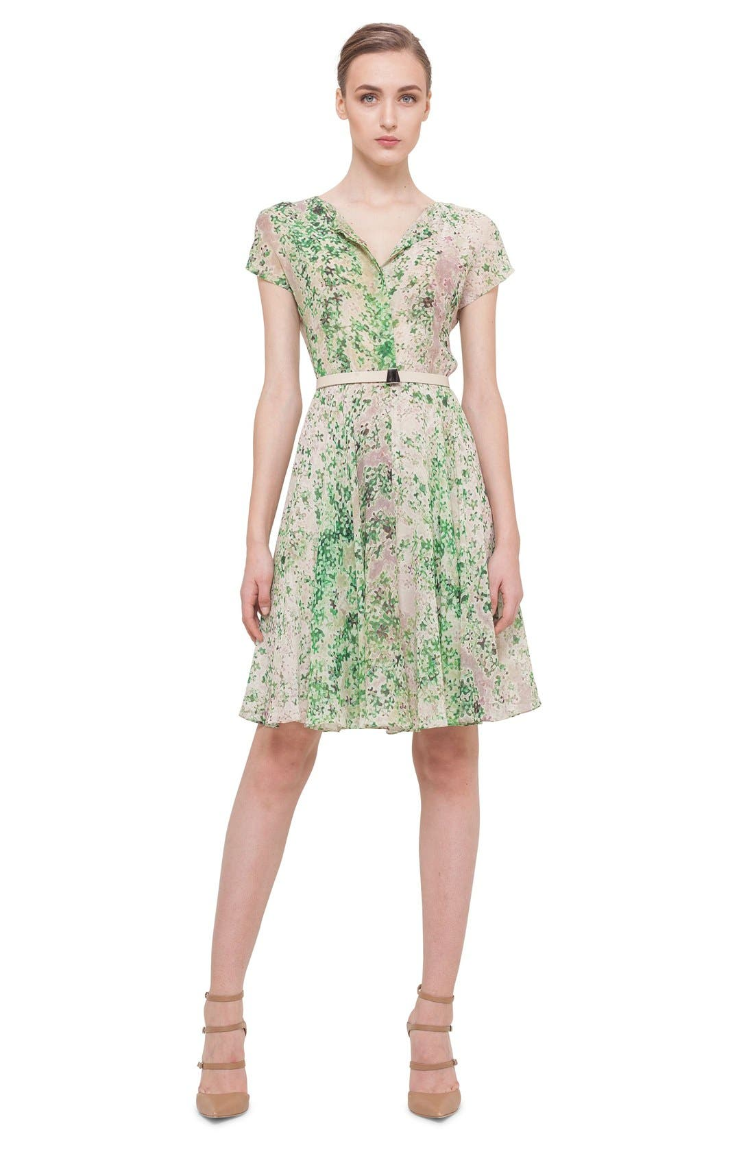 Alternate Image 3  - Akris Print Silk A-Line Shirtdress