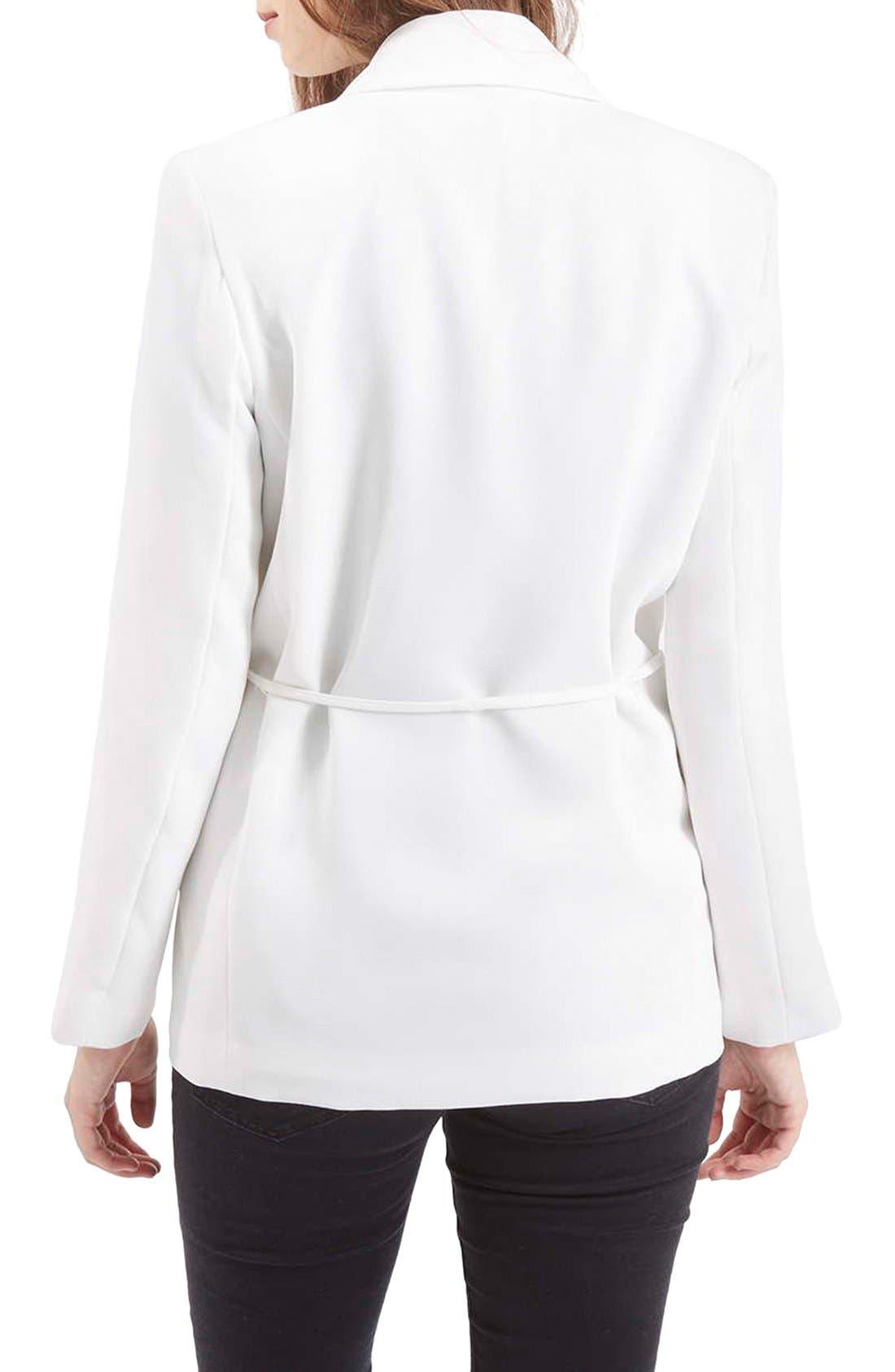 Alternate Image 3  - Topshop Belted Tuxedo Jacket