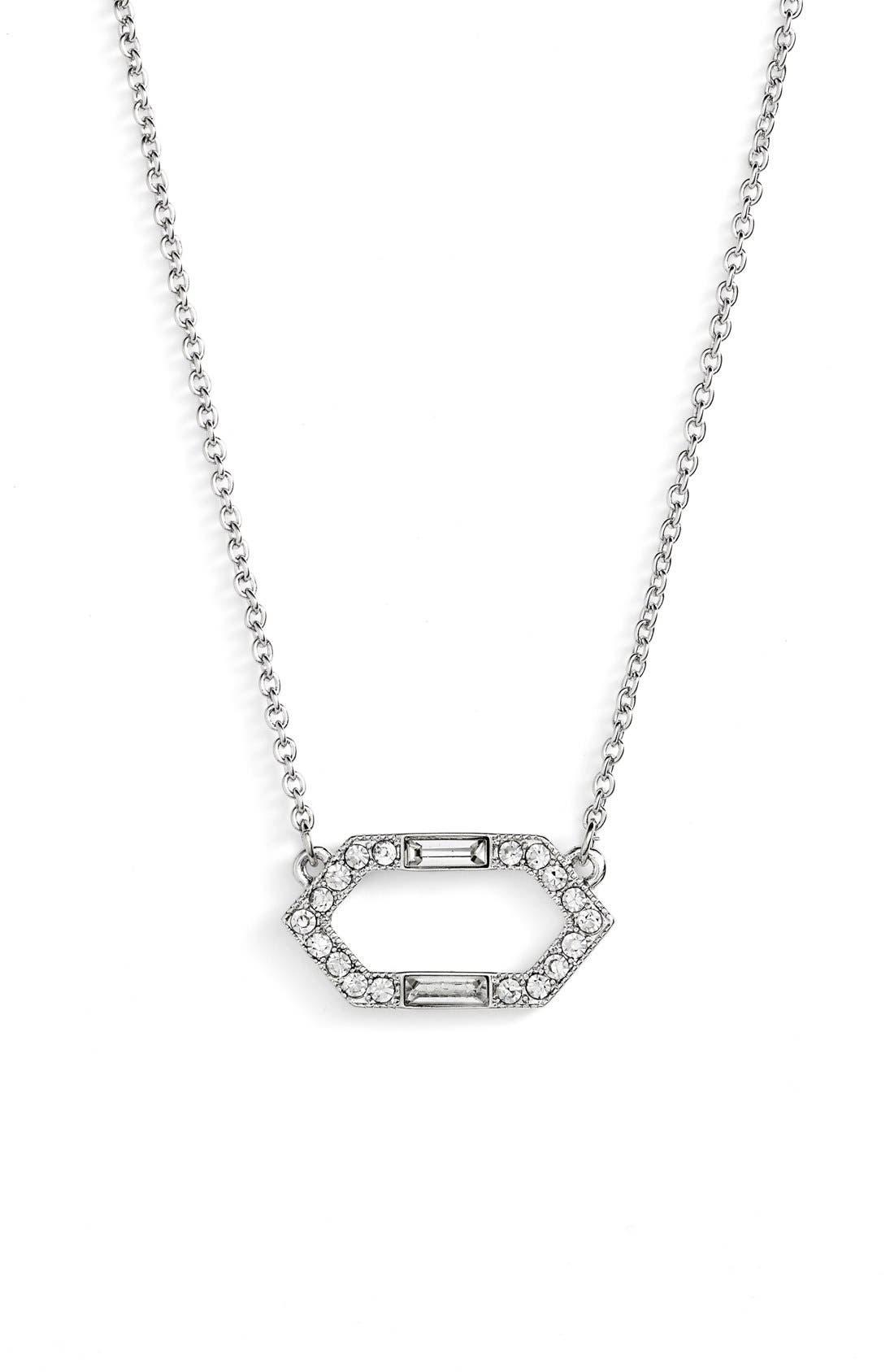 Alternate Image 1 Selected - Lauren Ralph Lauren Crystal Pendant Necklace