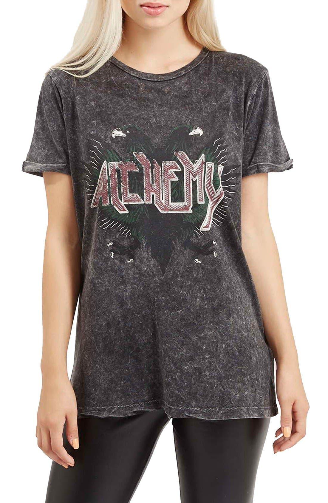 Alternate Image 1 Selected - Topshop 'Alchemy' Crewneck Rock Tee