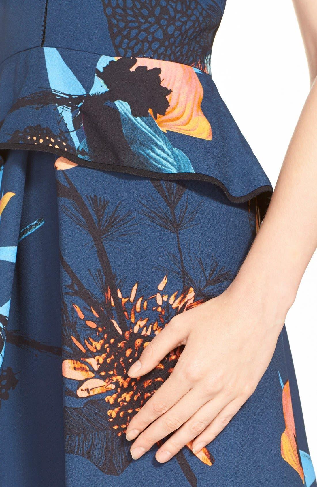 Alternate Image 5  - ProenzaSchoulerTropical Print Sleeveless Ruffle Dress