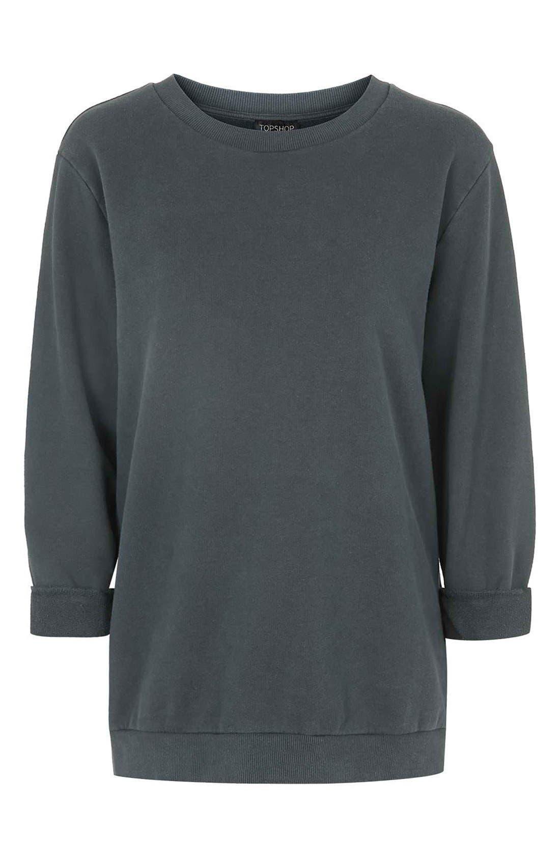 Alternate Image 4  - Topshop Washed '90s Sweatshirt