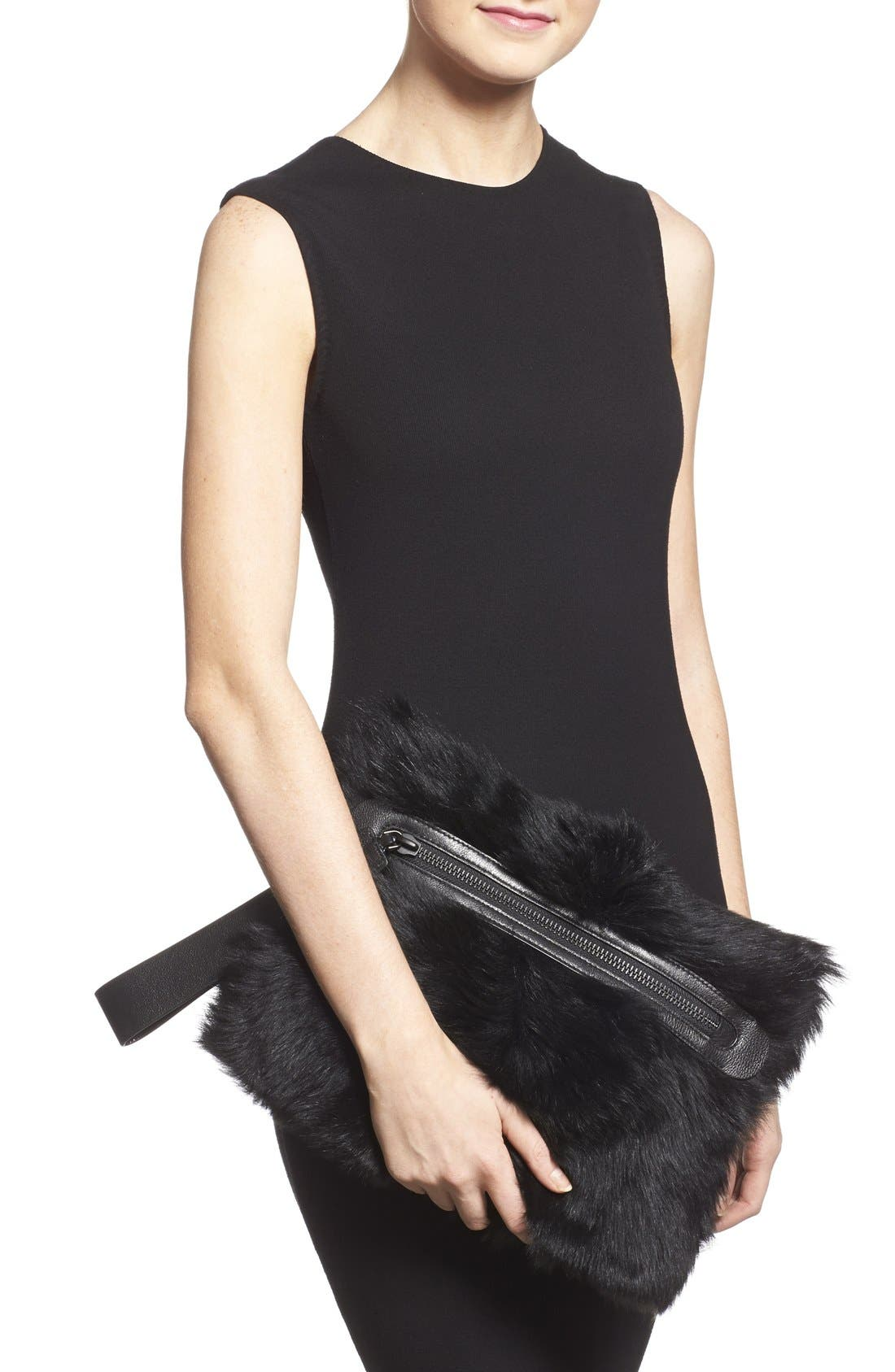 Alternate Image 2  - MARC BY MARC JACOBS Shearling Square Clutch