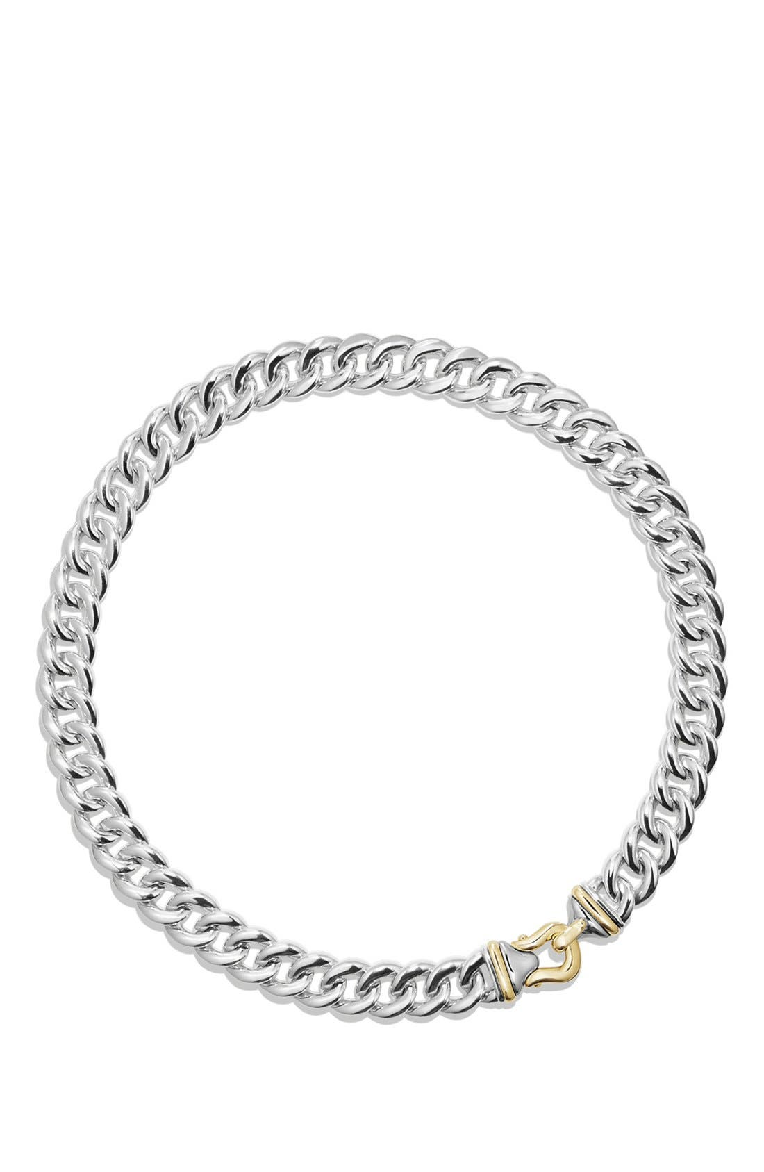 DAVID YURMAN 'Cable Buckle' Necklace in Sterling Silver
