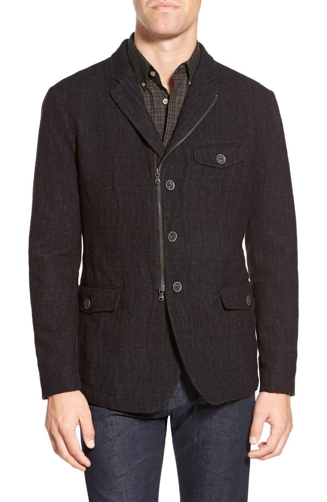 Main Image - John Varvatos Star USA Notch Lapel Moto Jacket