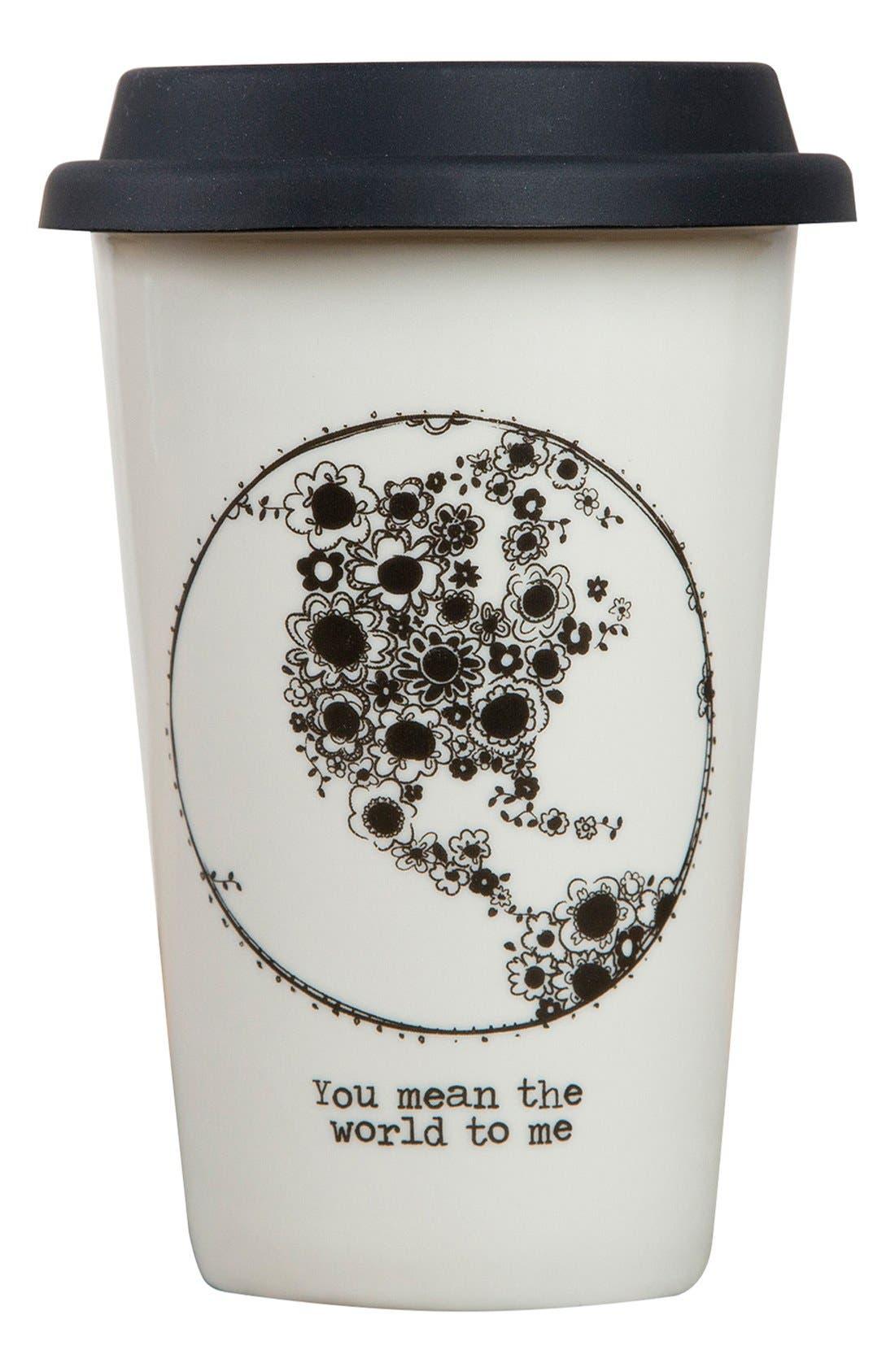 Alternate Image 1 Selected - Natural Life 'You Mean The World To Me' Ceramic Thermal Mug