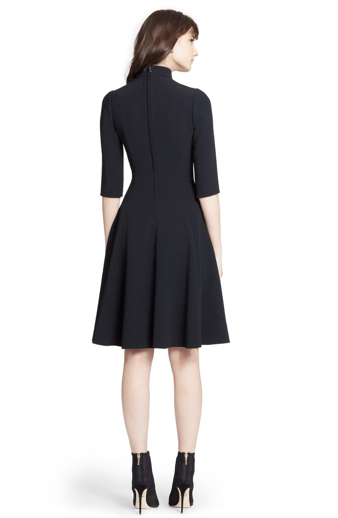Alternate Image 2  - Dolce&Gabbana Mock Turtleneck Cady A-Line Dress