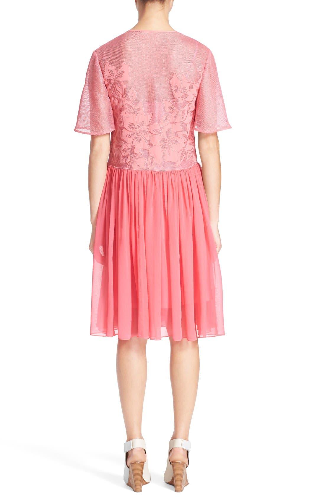 Alternate Image 2  - Rebecca Taylor Floral Appliqué Dress