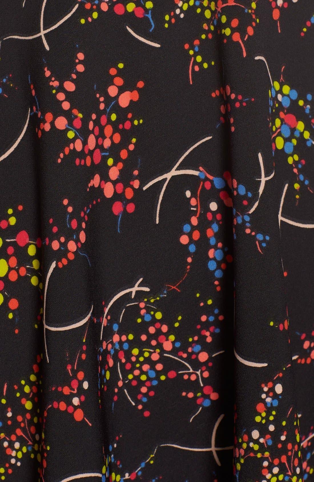 Alternate Image 6  - Charles Henry Print Tiered Stretch Babydoll dress