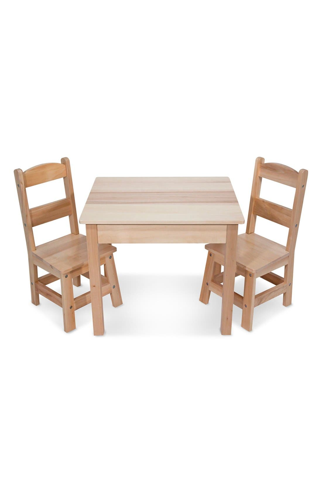 MELISSA & DOUG Wooden Table and Chairs Set
