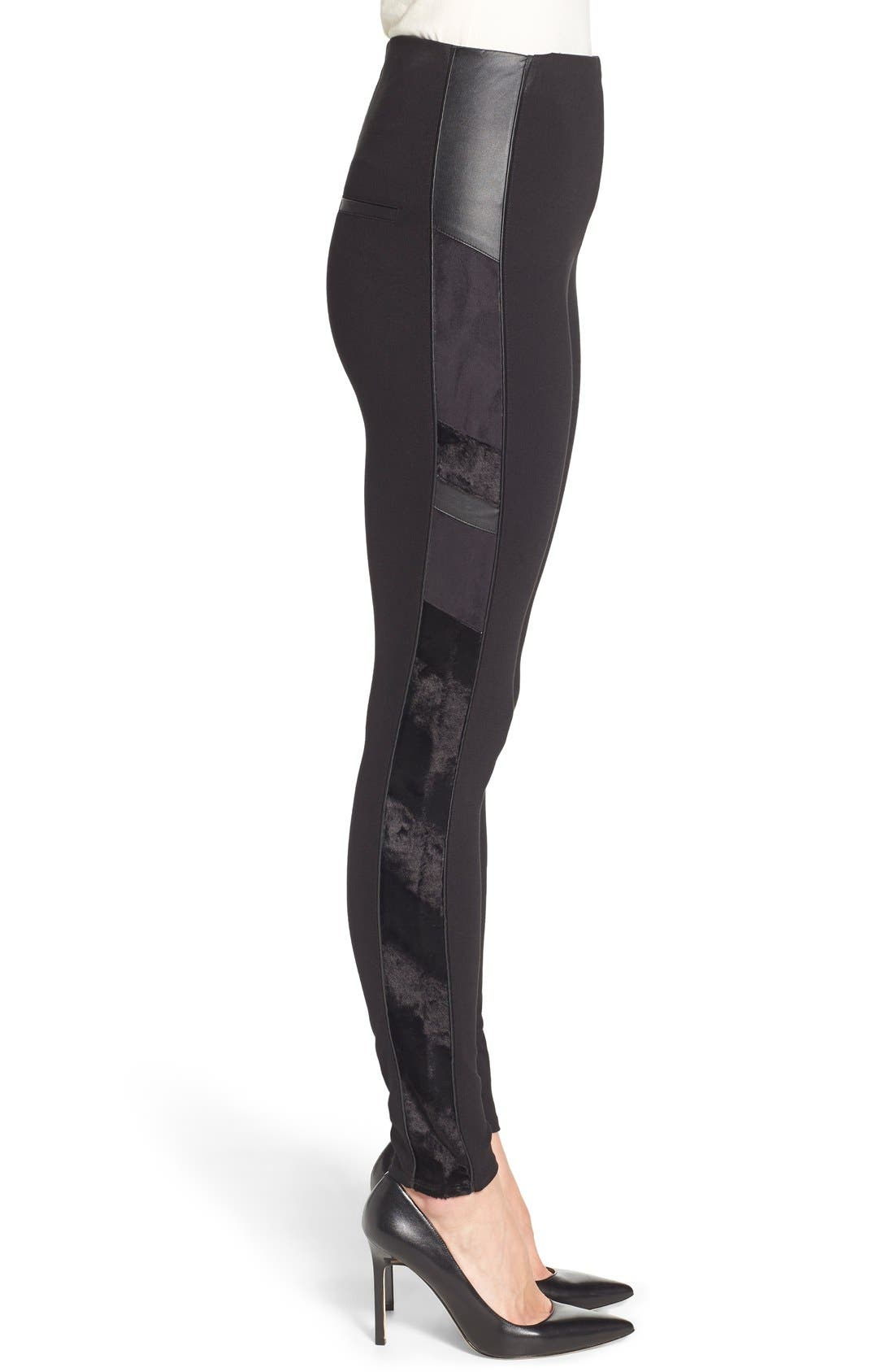 Alternate Image 3  - Lyssé Tuxedo Stripe Ponte Leggings