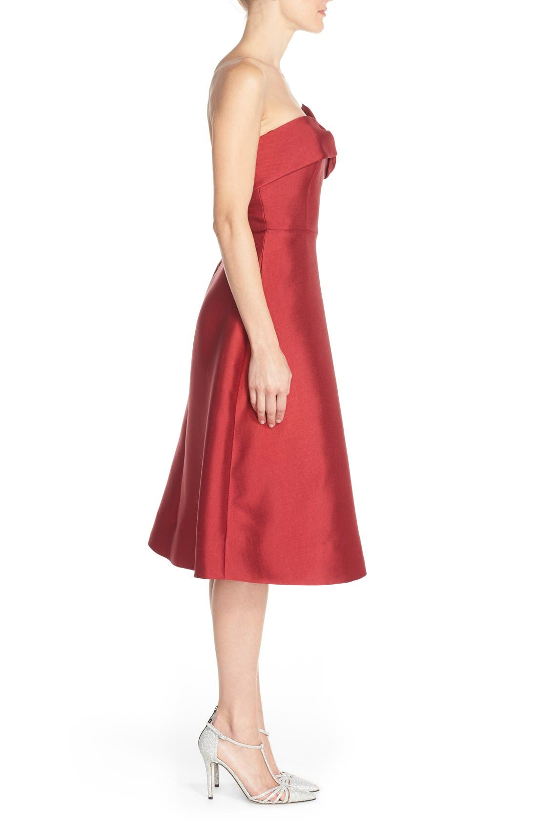 Alternate Image 3  - ERIN erin fetherston 'Katie' Bow Neck Twill Fit & Flare Dress
