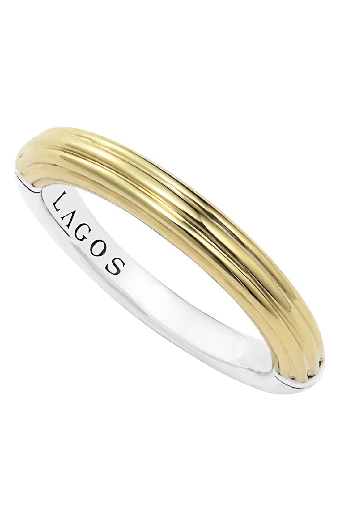 Alternate Image 1 Selected - LAGOS Ribbed Stacking Ring