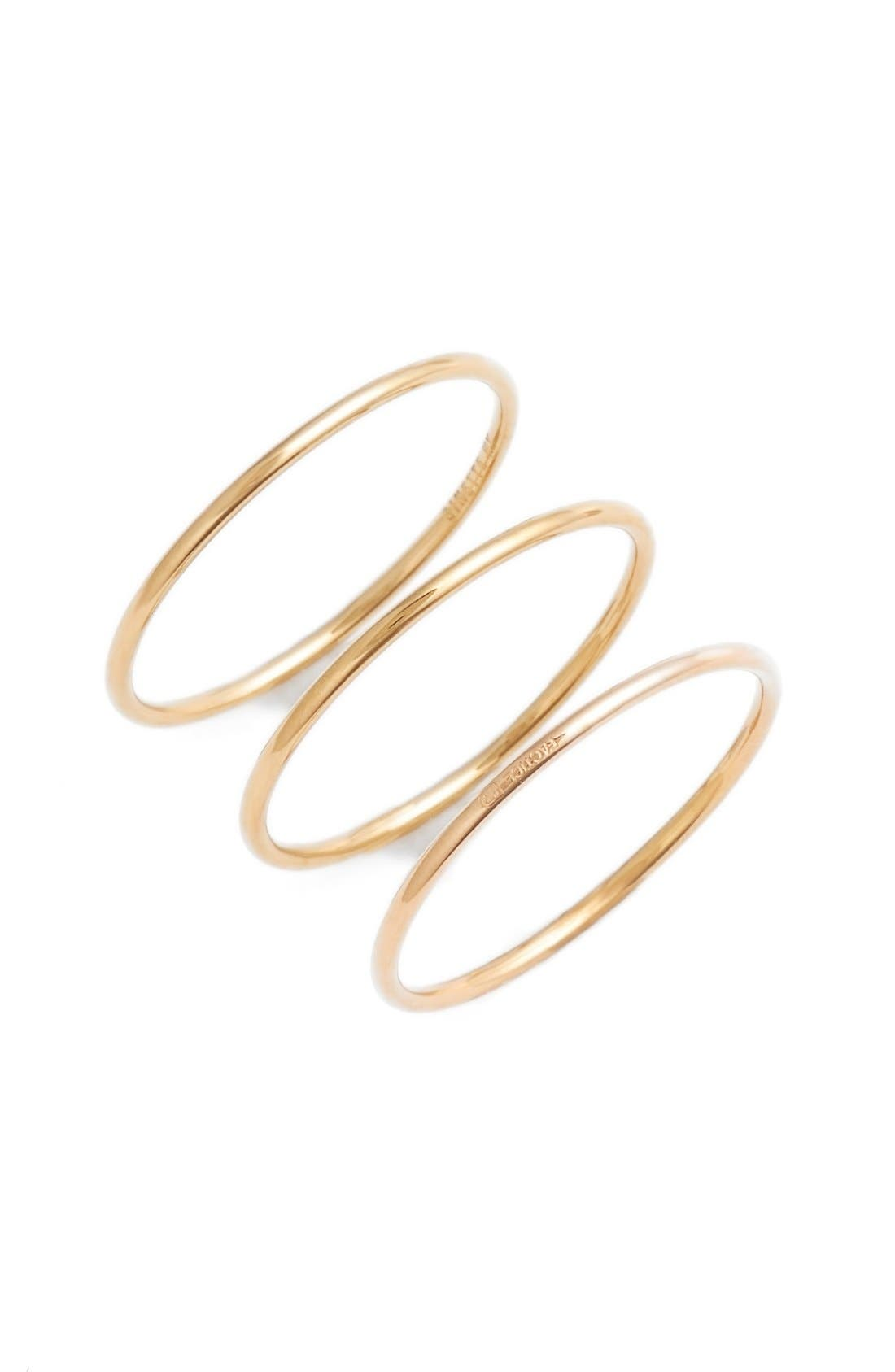 Alternate Image 1 Selected - ginette ny Circle Rings (Set of 3)