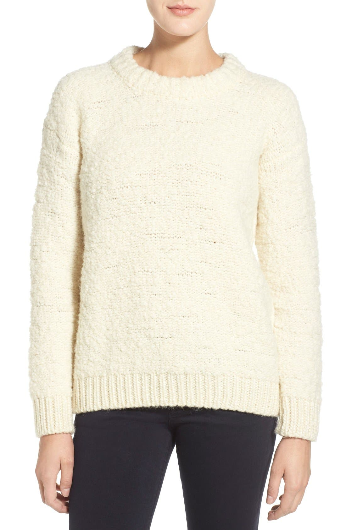 Alternate Image 1 Selected - M.i.h. Jeans 'Bird' Bouclé Crewneck Sweater