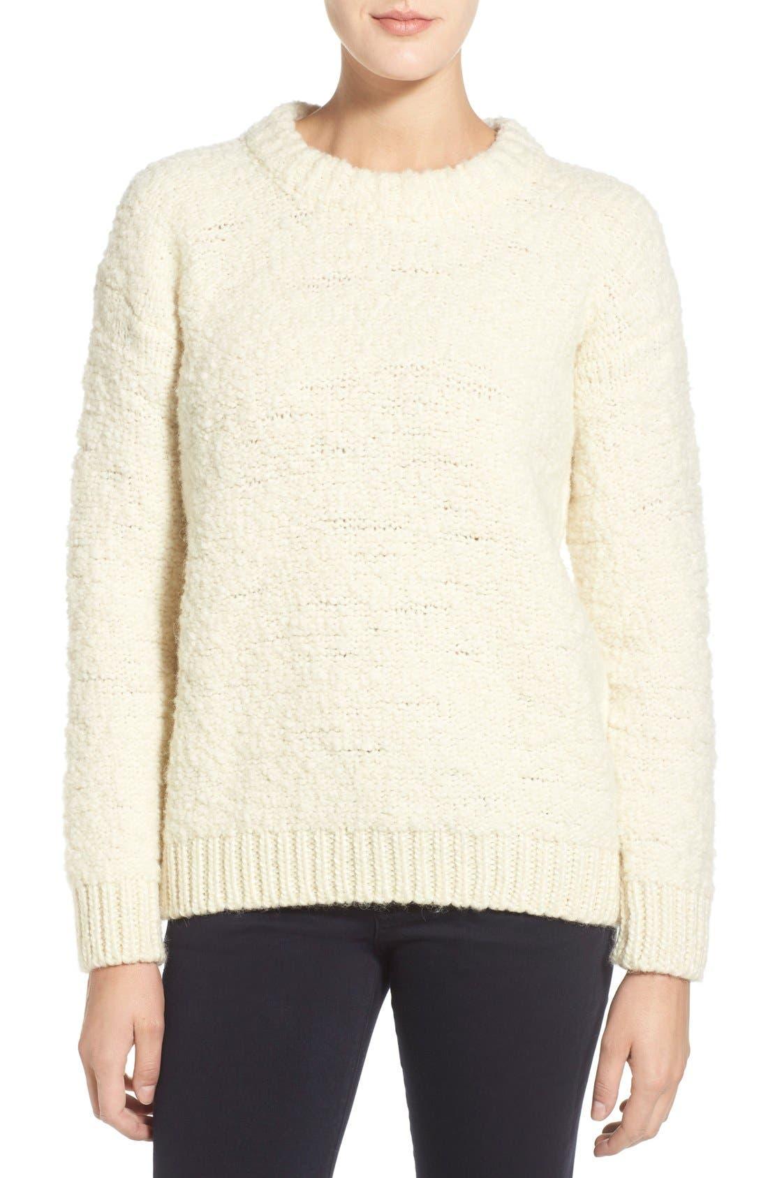 Main Image - M.i.h. Jeans 'Bird' Bouclé Crewneck Sweater