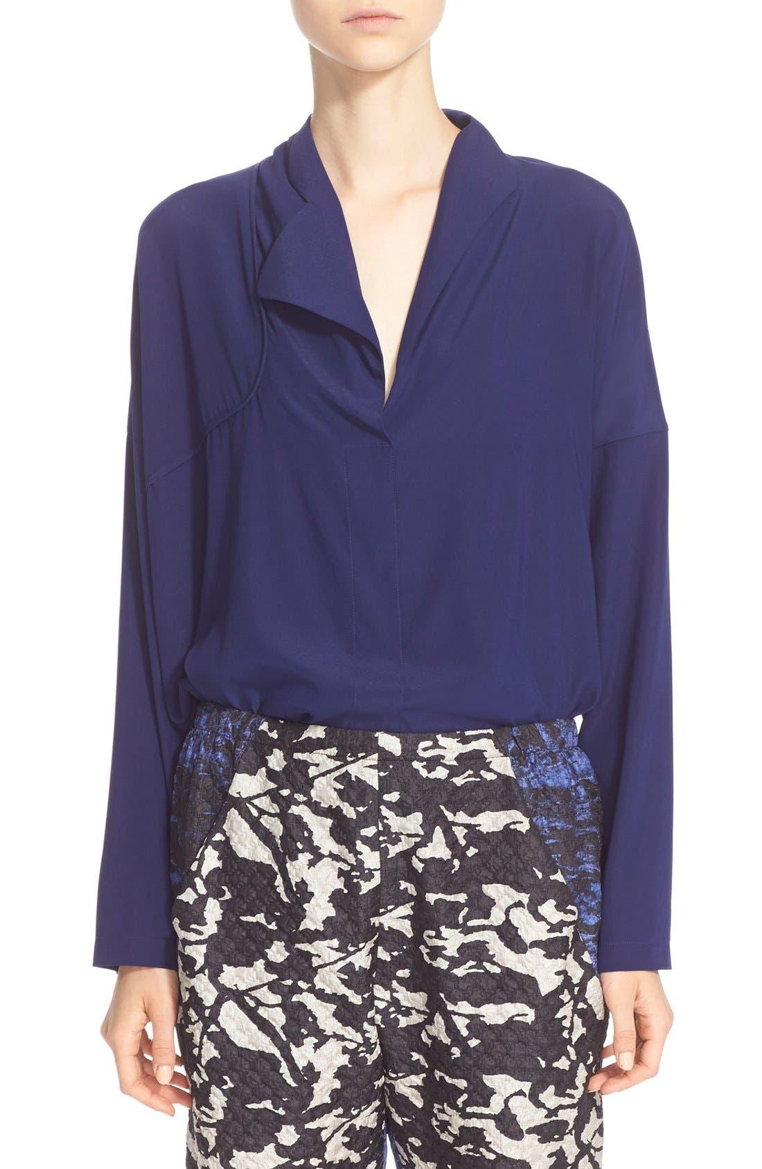 Alternate Image 1 Selected - Zero + Maria Cornejo 'Edi' Stretch Silk Charmeuse Shirt