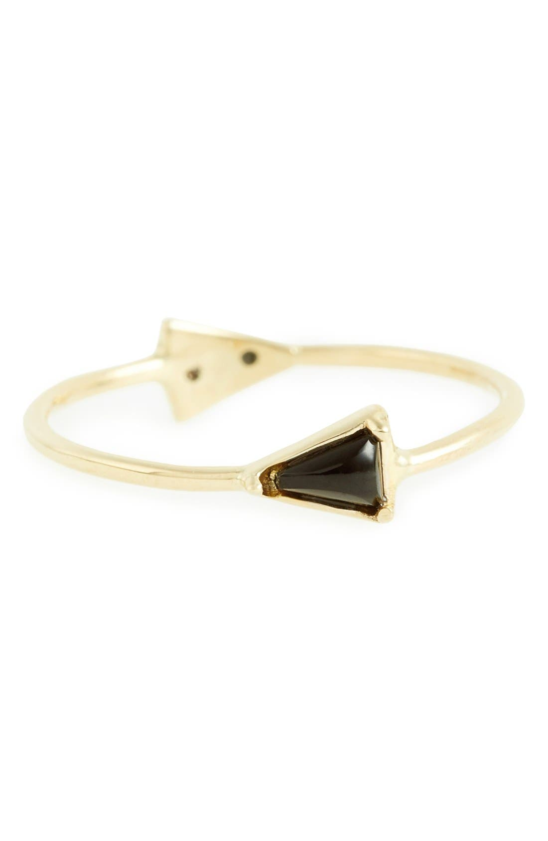 MOCIUN Double Triangle Ring