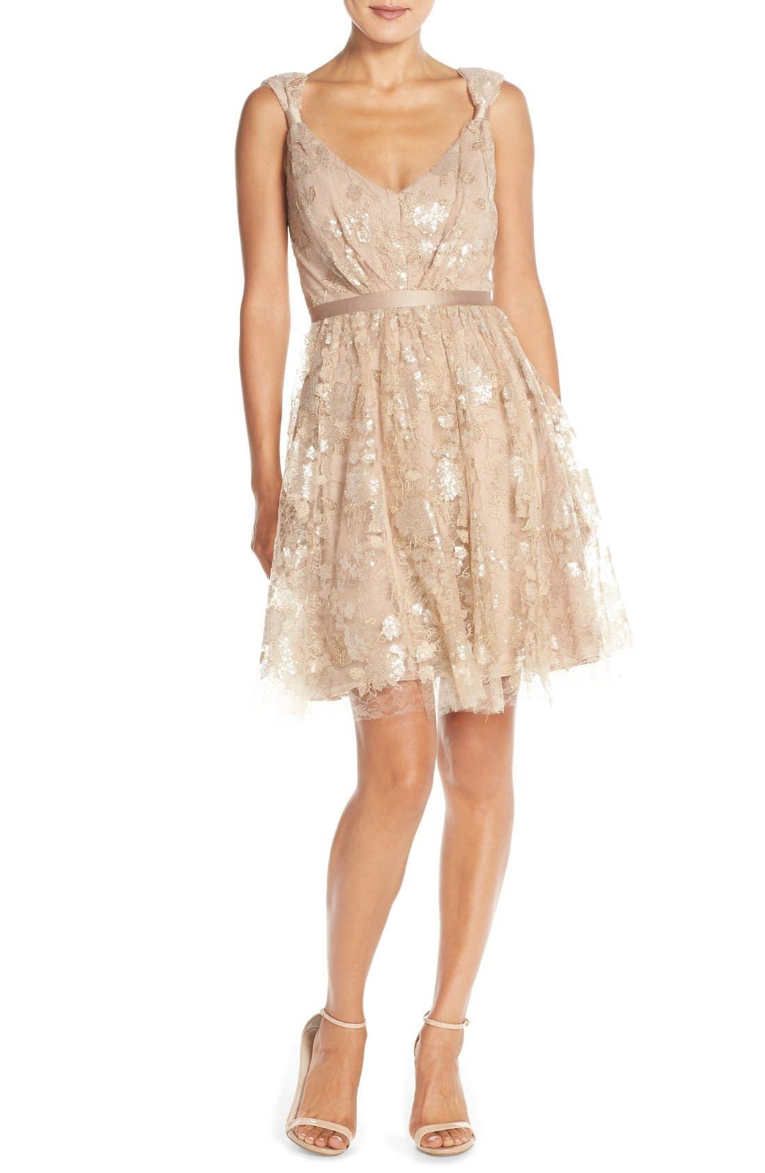 Alternate Image 4  - Vera Wang Lace & Sequin Sleeveless Fit & Flare Dress