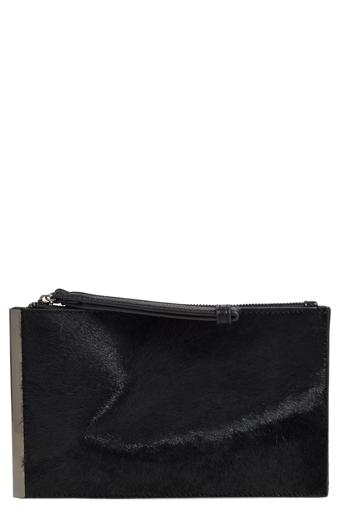 Alternate Image 1 Selected - Street Level Genuine Calf Hair Clutch