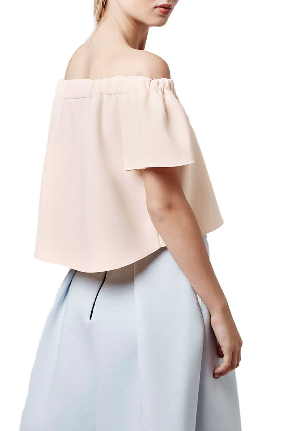 Alternate Image 3  - Topshop Structured Bardot Top (Petite)