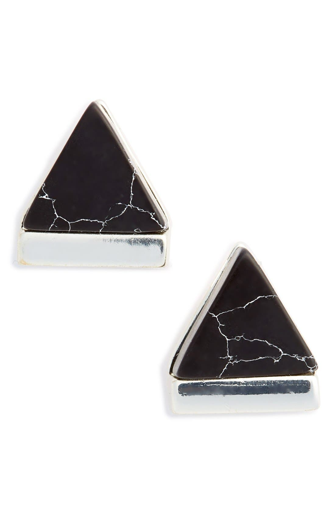 Main Image - Leith Marbled Triangle Stud Earrings