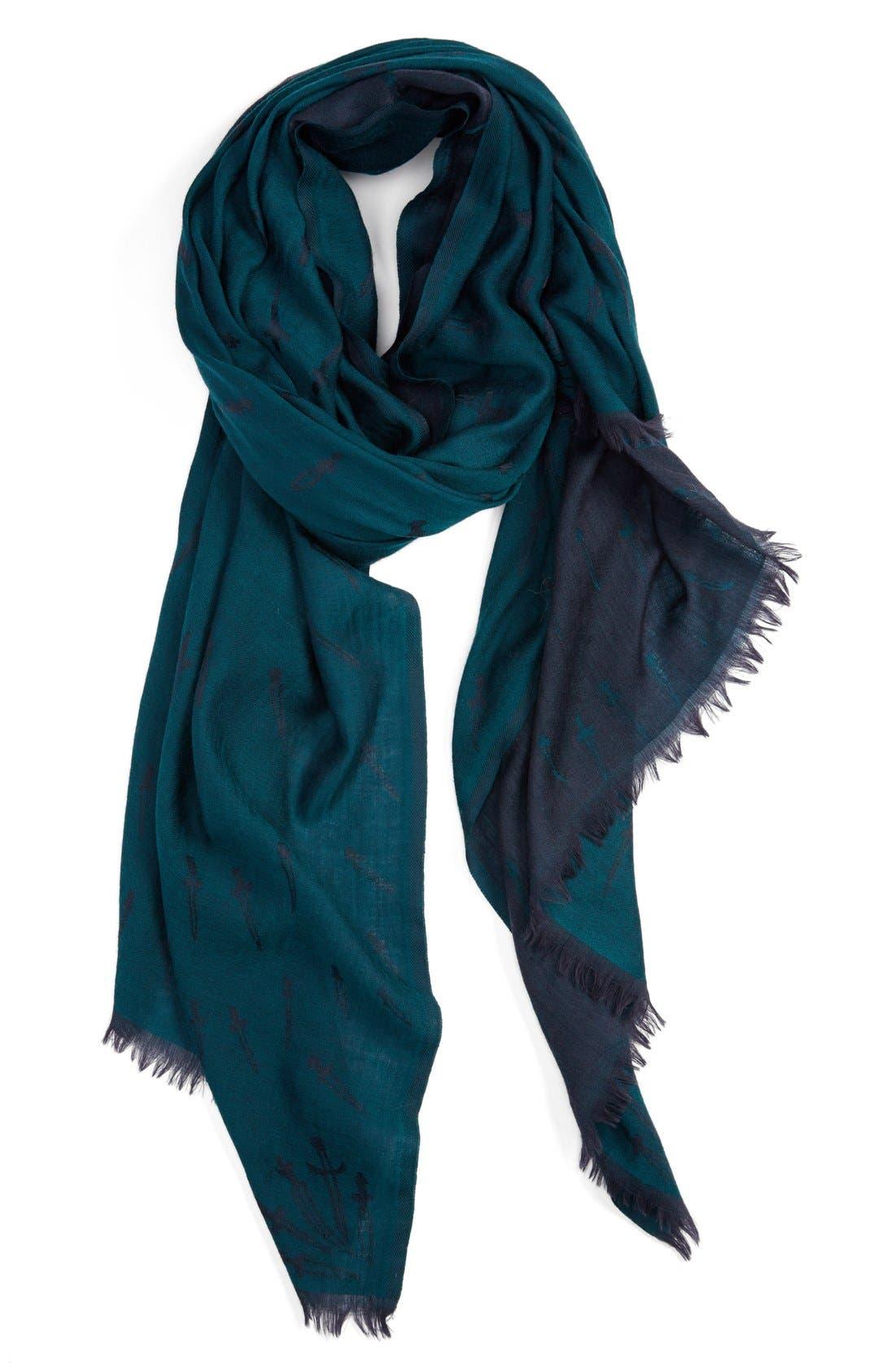 Main Image - rag & bone 'Dagger' Wool Jacquard Scarf