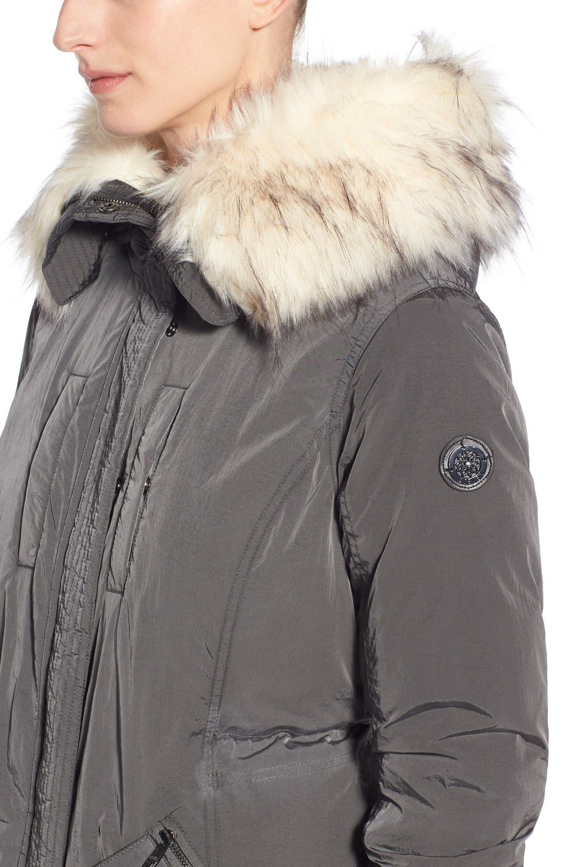Alternate Image 5  - Steve Madden Split Hood Down Parka with Faux Fur Trim