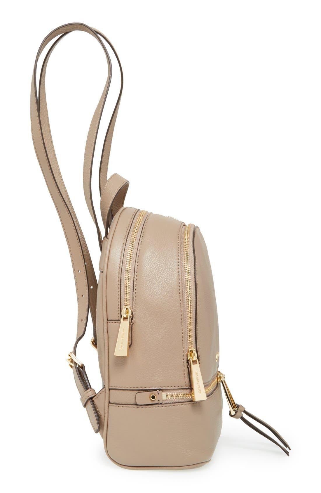 Alternate Image 5  - MICHAEL Michael Kors 'Extra Small Rhea Zip' Leather Backpack