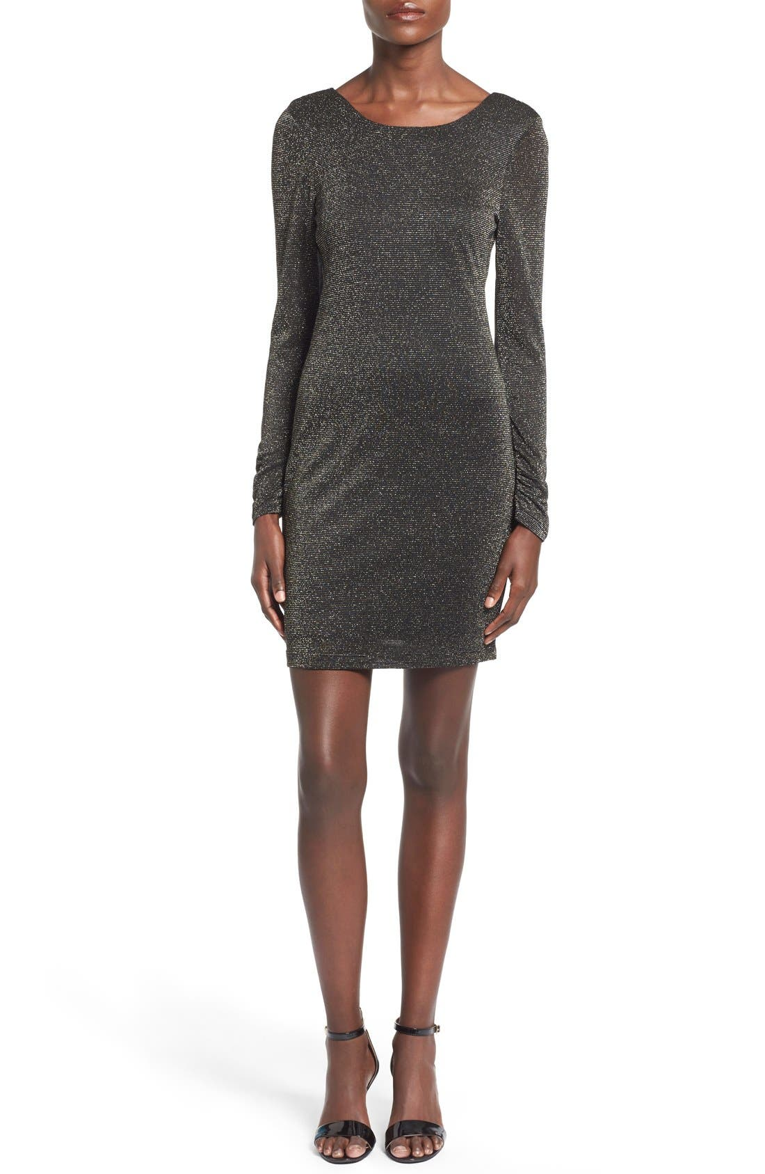 Main Image - Speechless Metallic Long Sleeve Sweater Dress