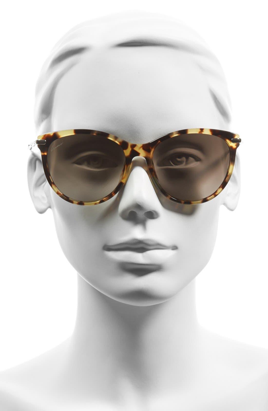 Alternate Image 2  - Gucci 60mm Cat Eye Sunglasses