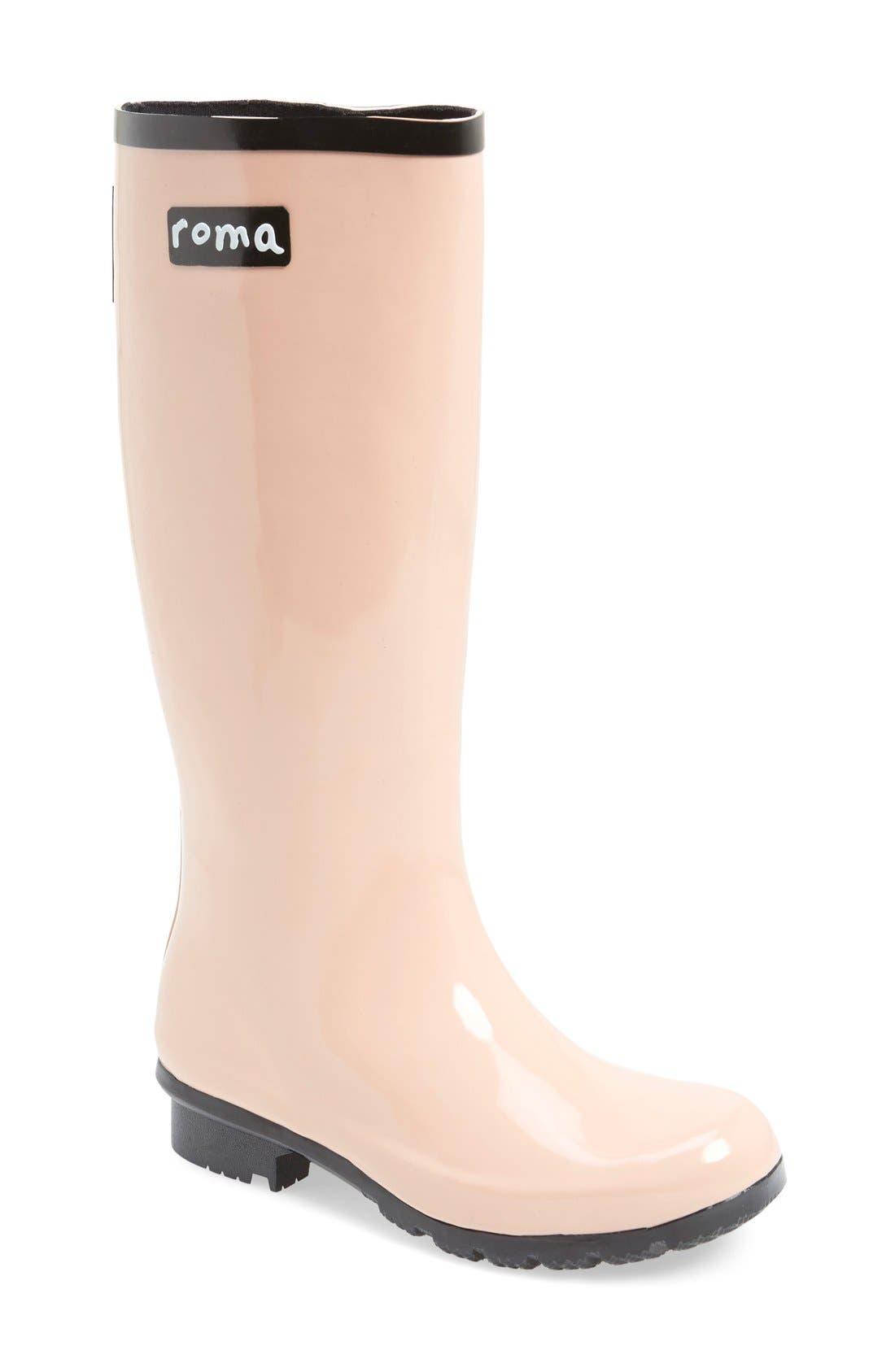 Alternate Image 1 Selected - roma 'Emma' Glossy Rain Boot (Women)