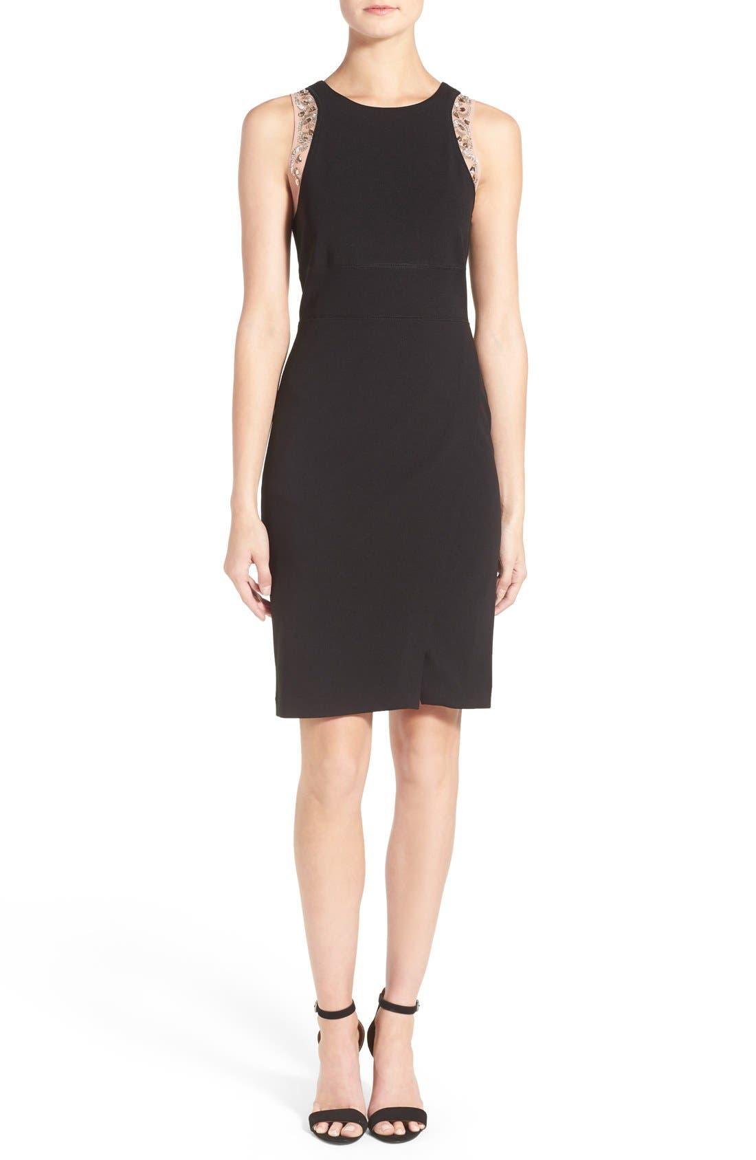 Main Image - Ivanka Trump Crepe Sleeveless Dress