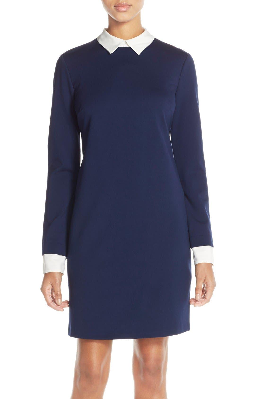 Alternate Image 4  - CeCe by Cynthia Steffe Tech Ponte Shift Dress