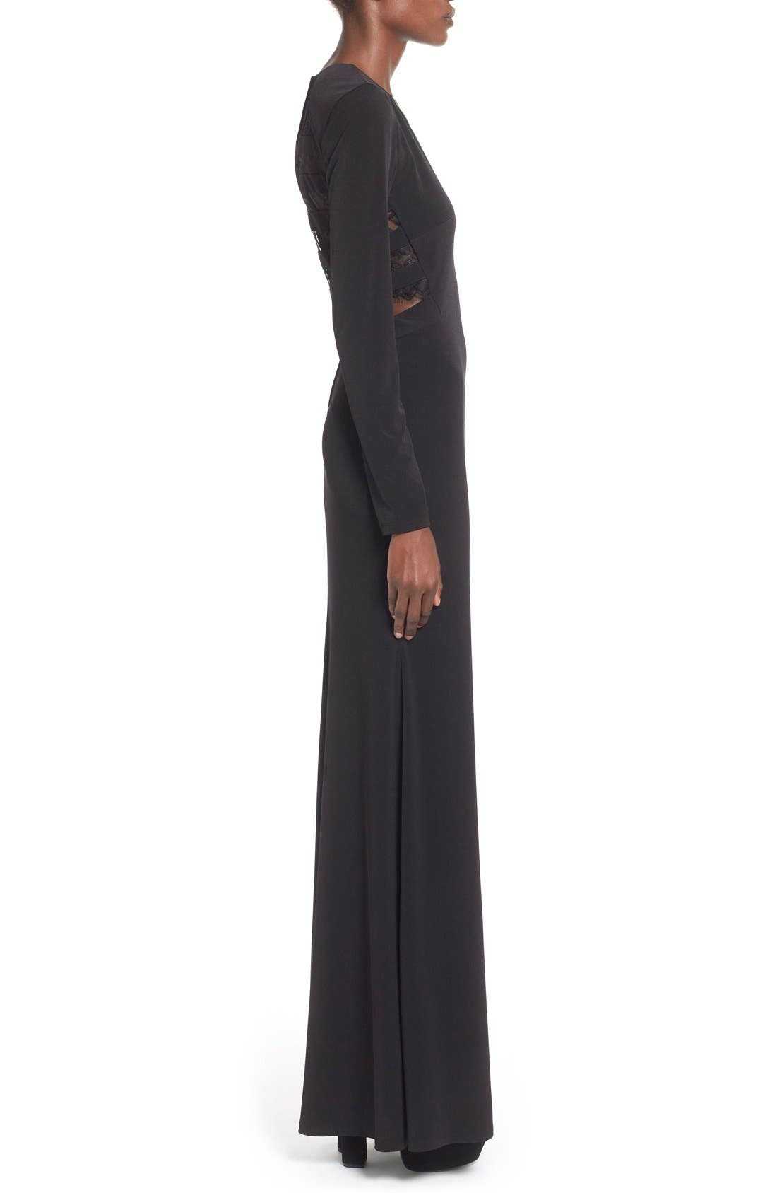 Alternate Image 3  - Way-In 'Sam' Cutout Long Sleeve Gown