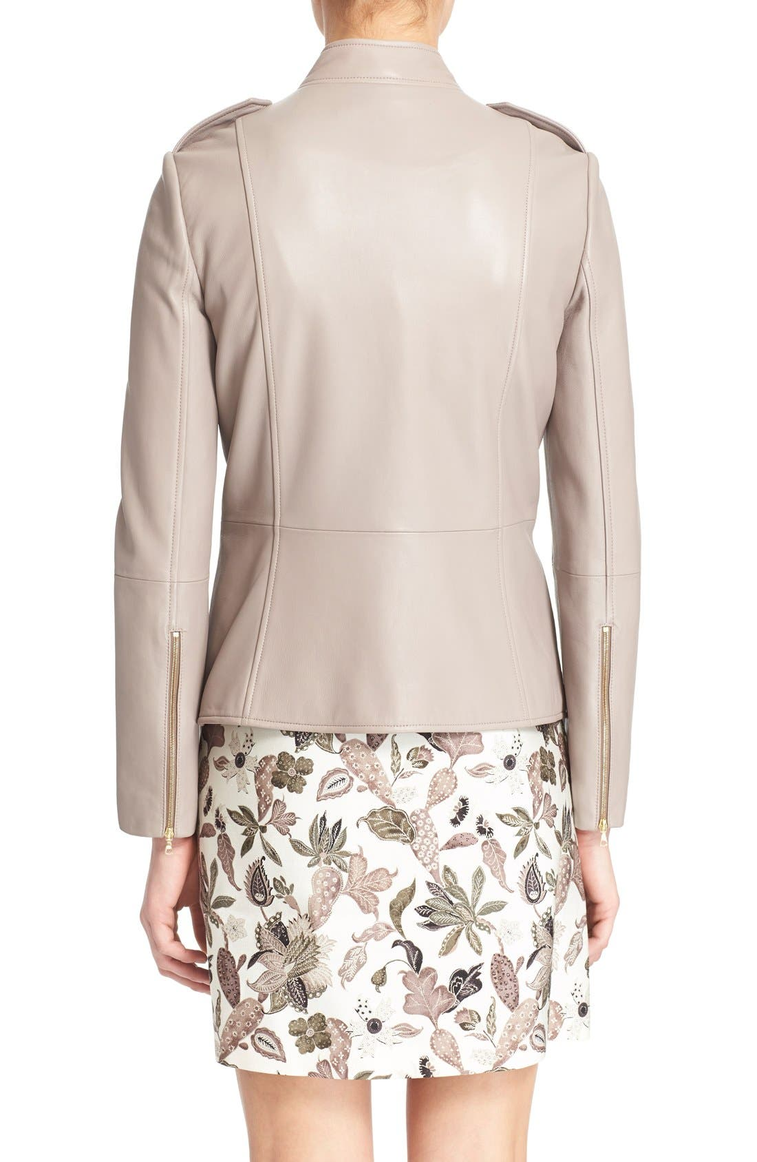 Alternate Image 2  - Tory Burch Leather Military Jacket
