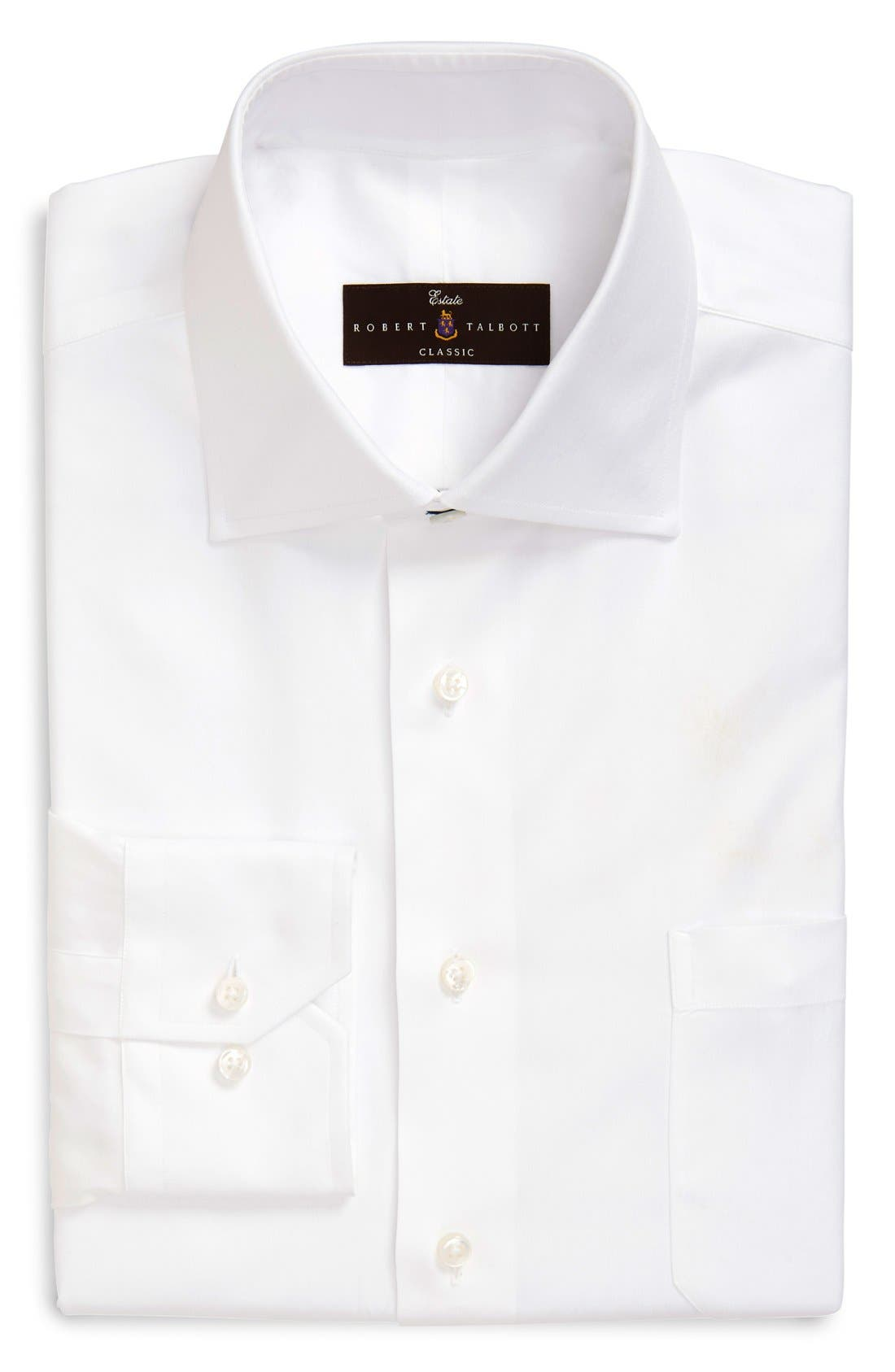 Robert Talbott Regular Fit Solid Dress Shirt