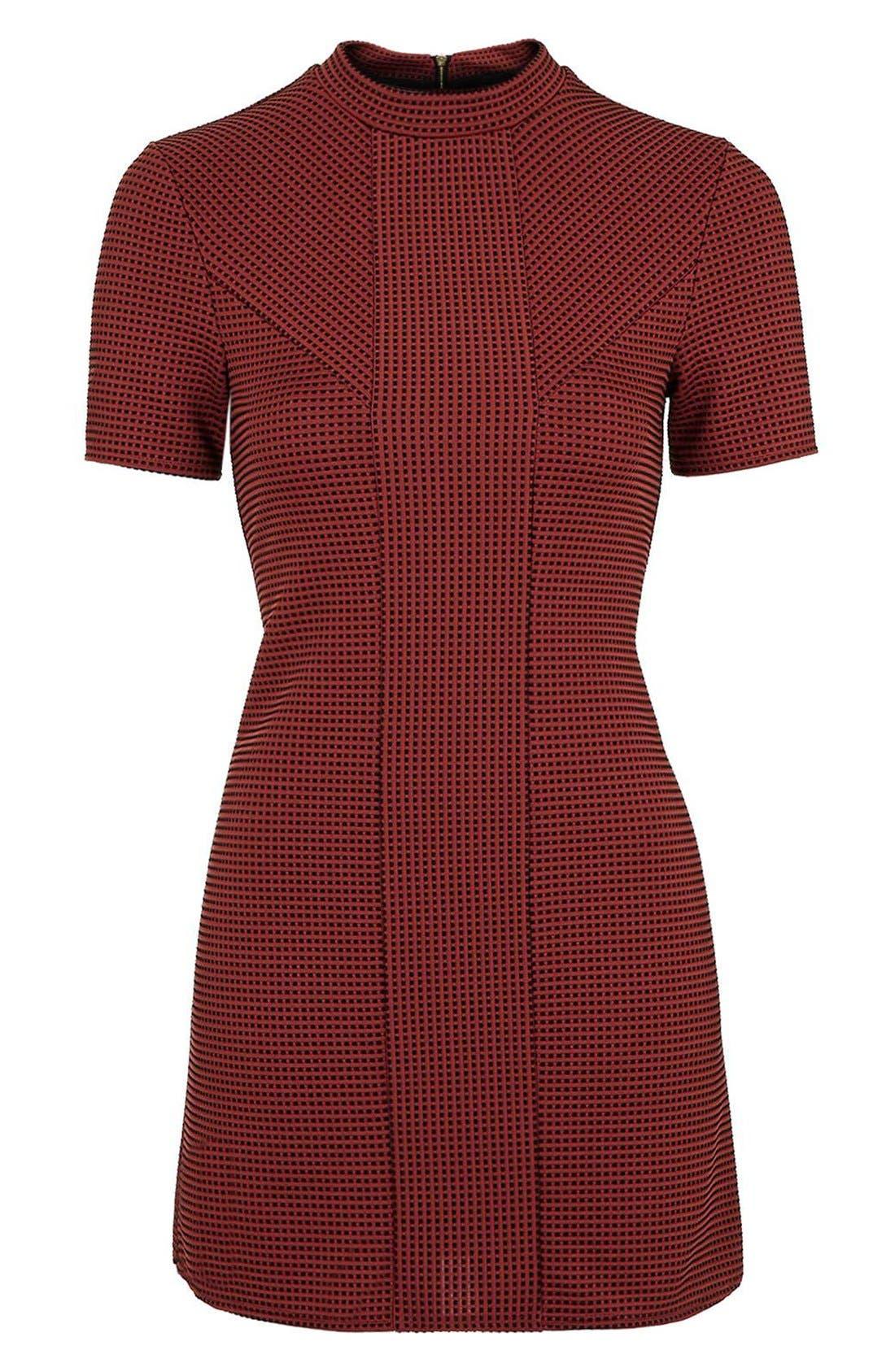 Alternate Image 4  - Topshop Paneled A-Line Dress (Petite)