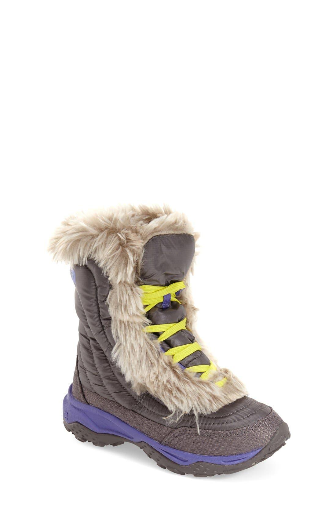 Alternate Image 1 Selected - The North Face 'Nuptse Fur' Boot (Little Kid & Big Kid)