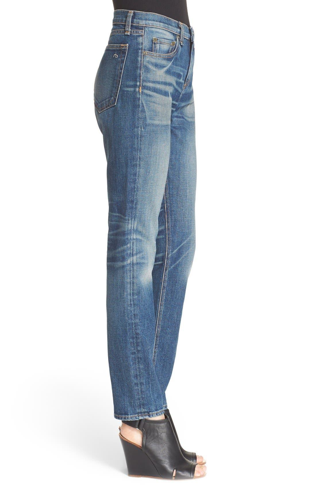 Alternate Image 3  - rag & bone/JEAN 'Dre' High Rise Boyfriend Skinny Jeans (Exeter)