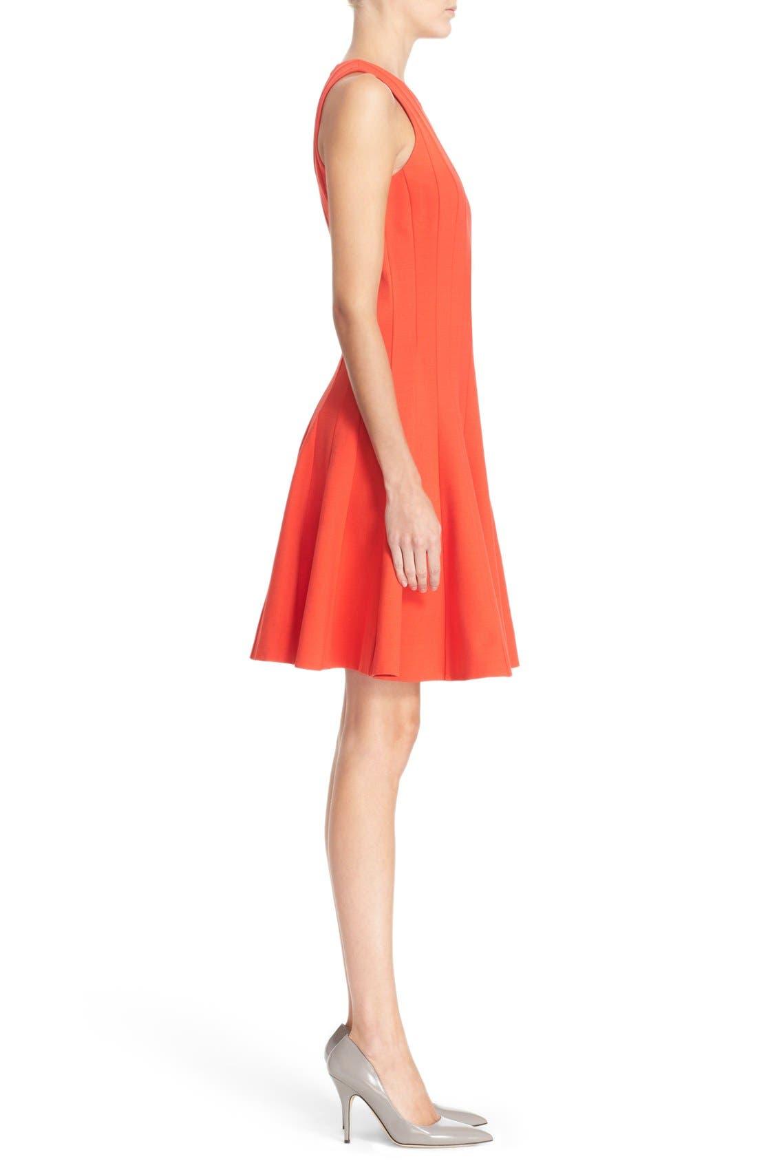 Alternate Image 3  - kate spade new york pleated ponte fit & flare dress