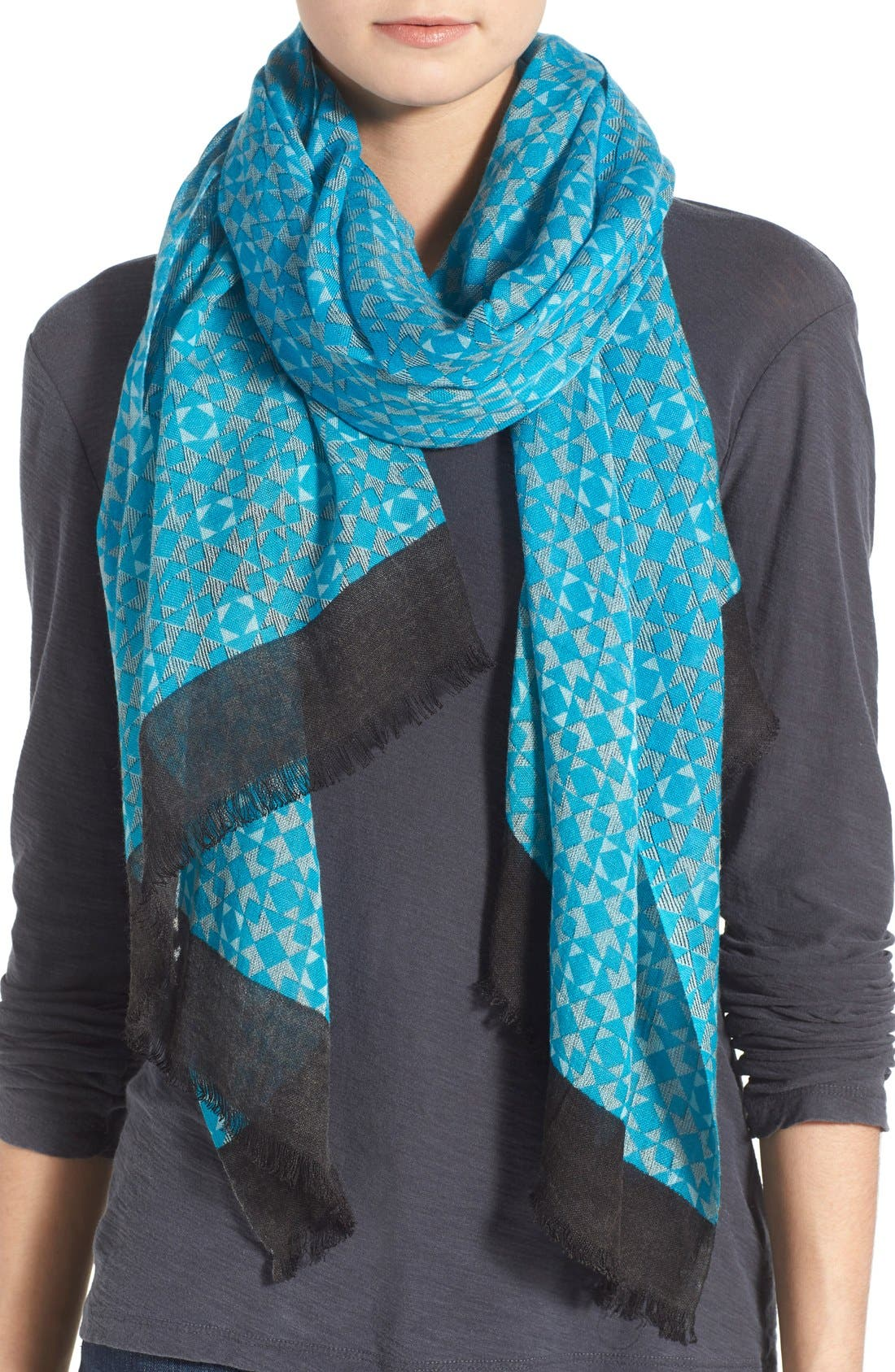 La Fiorentina Abstract Print Scarf