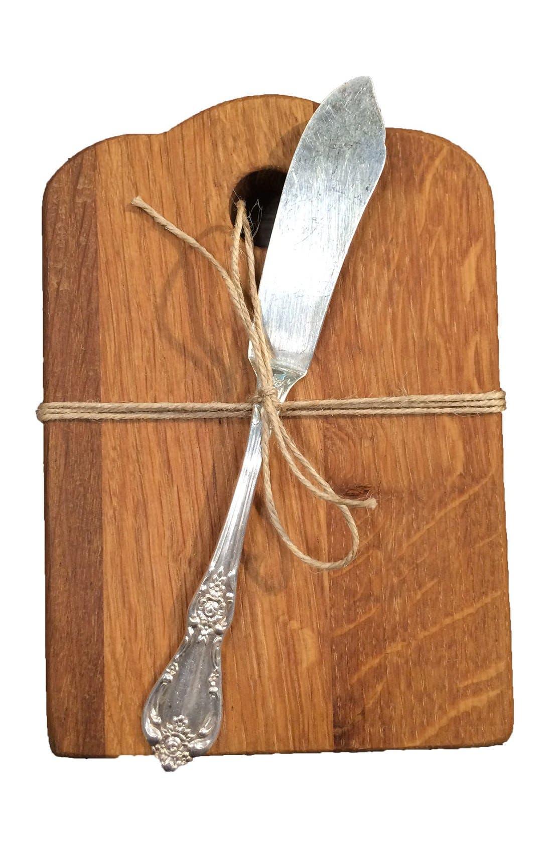 Alternate Image 2  - Europe2You Reclaimed Wood Cheese Board & Knife
