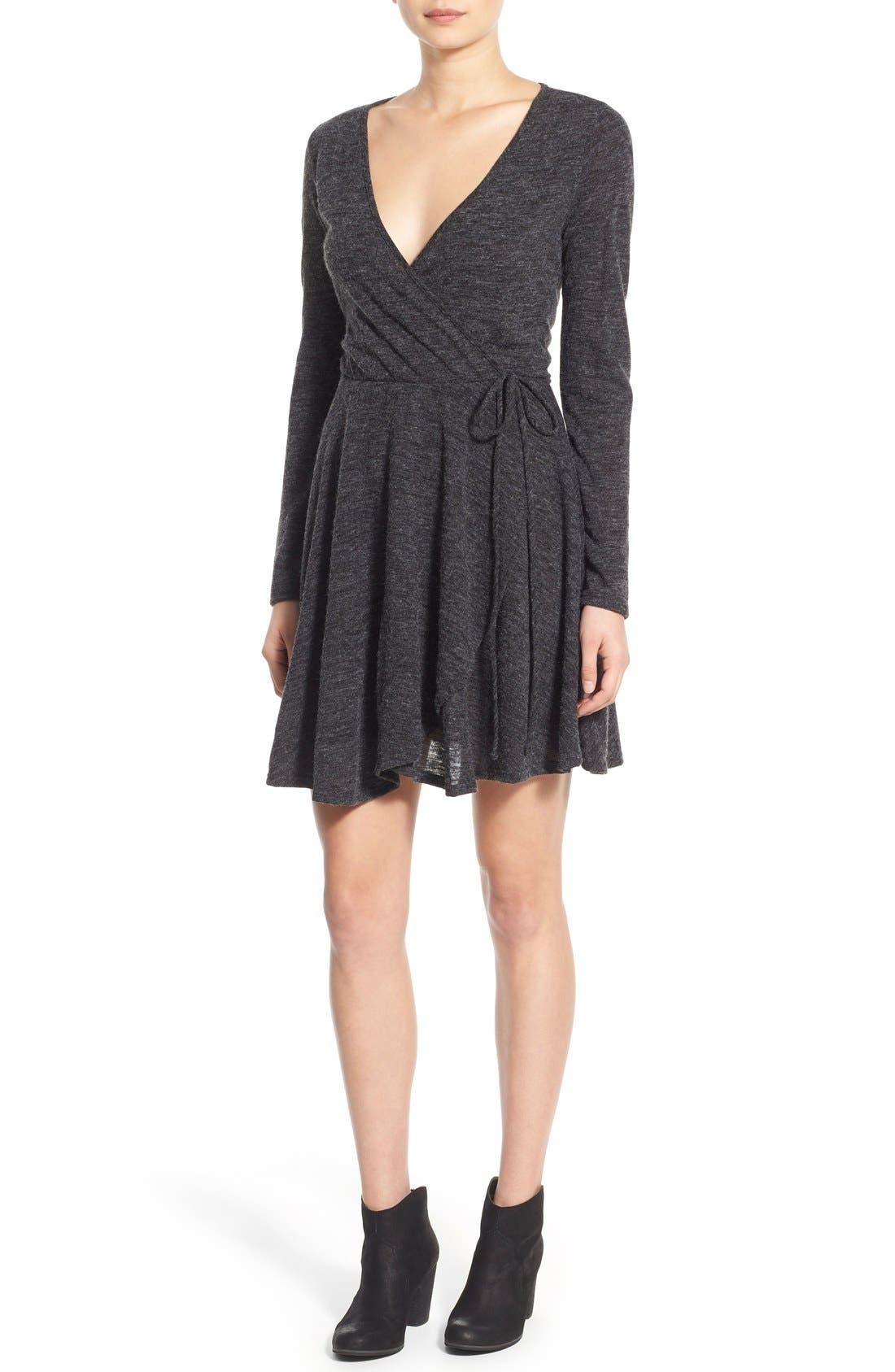 Alternate Image 1 Selected - jella c. Long Sleeve Wrap Dress