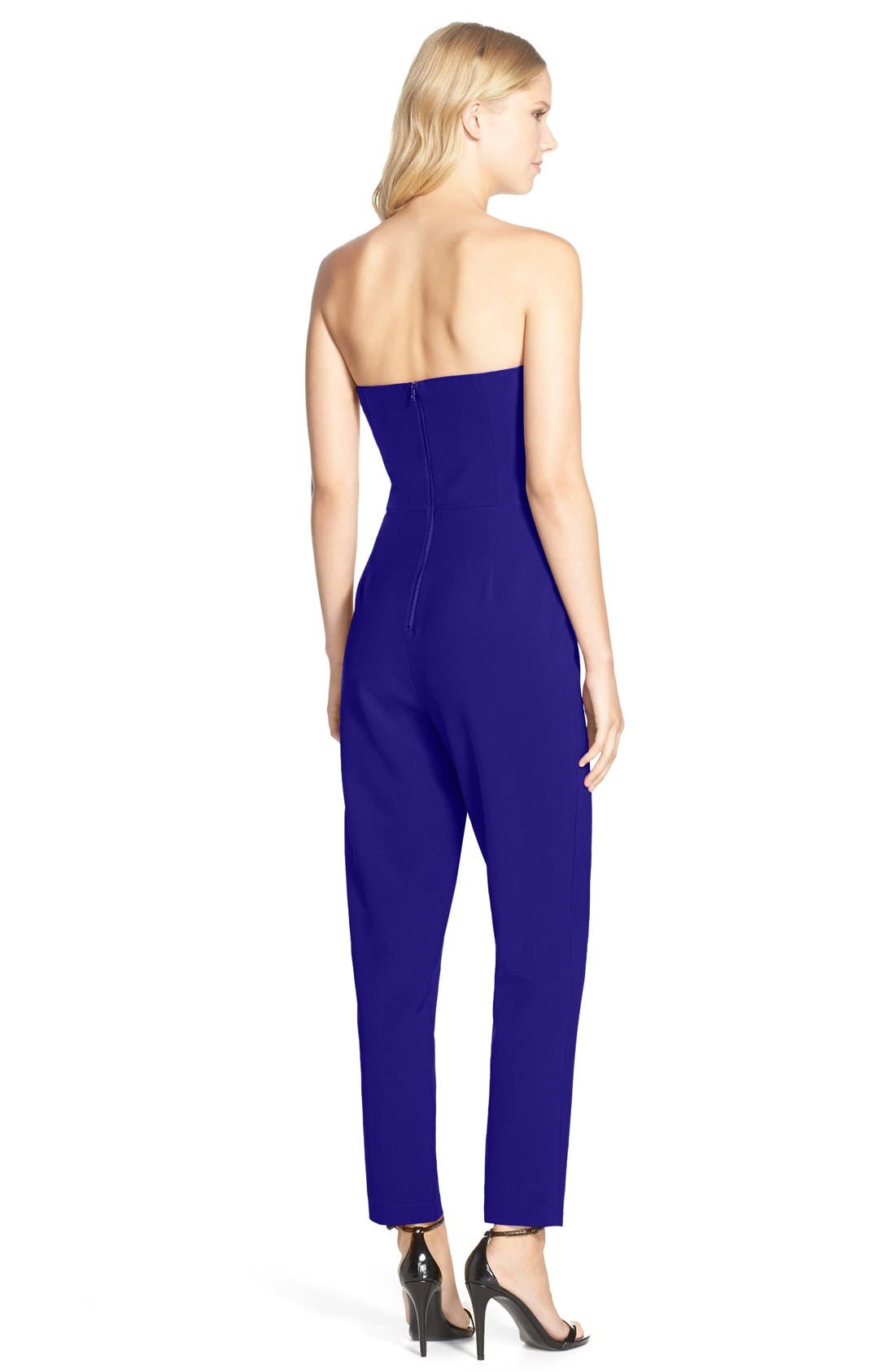 Alternate Image 2  - Adelyn Rae Strapless Jumpsuit