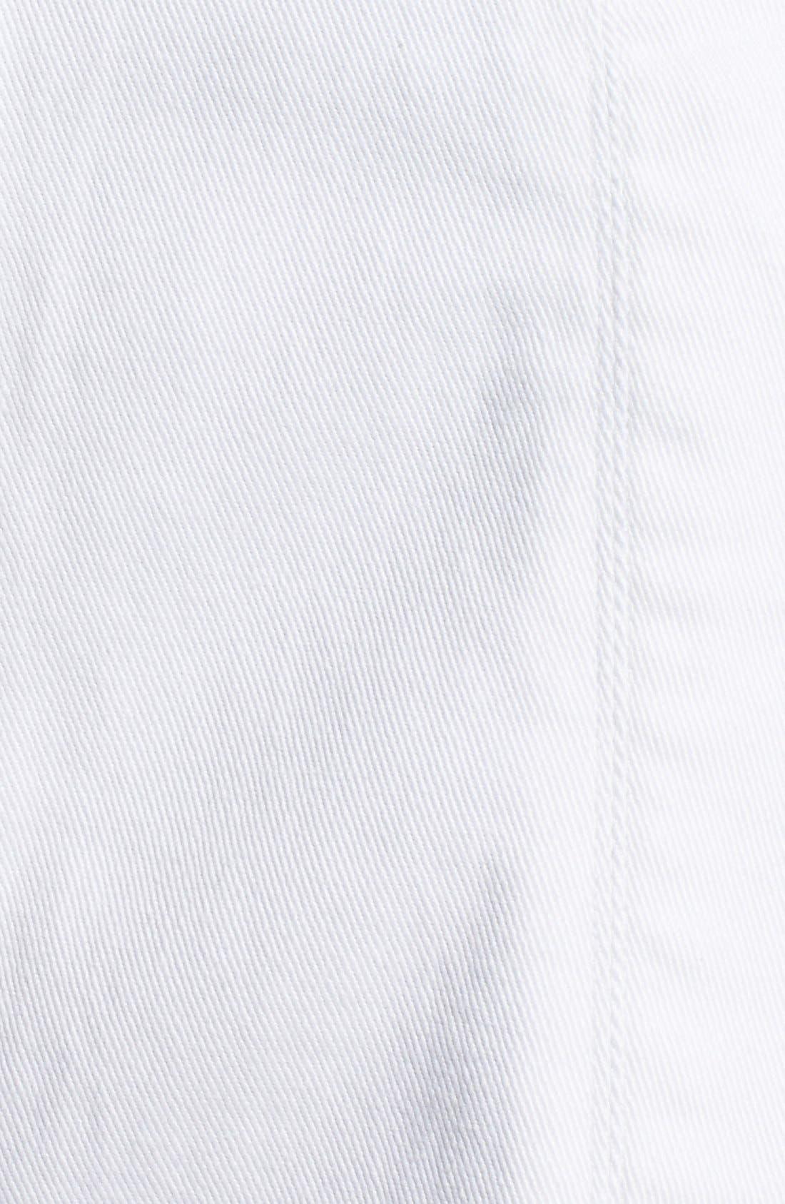 Alternate Image 5  - Jolt Button Front Denim Miniskirt