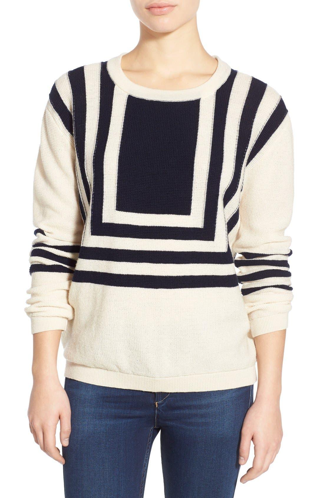 Alternate Image 1 Selected - M.i.h. Jeans 'Bib Breton' Crewneck Sweater