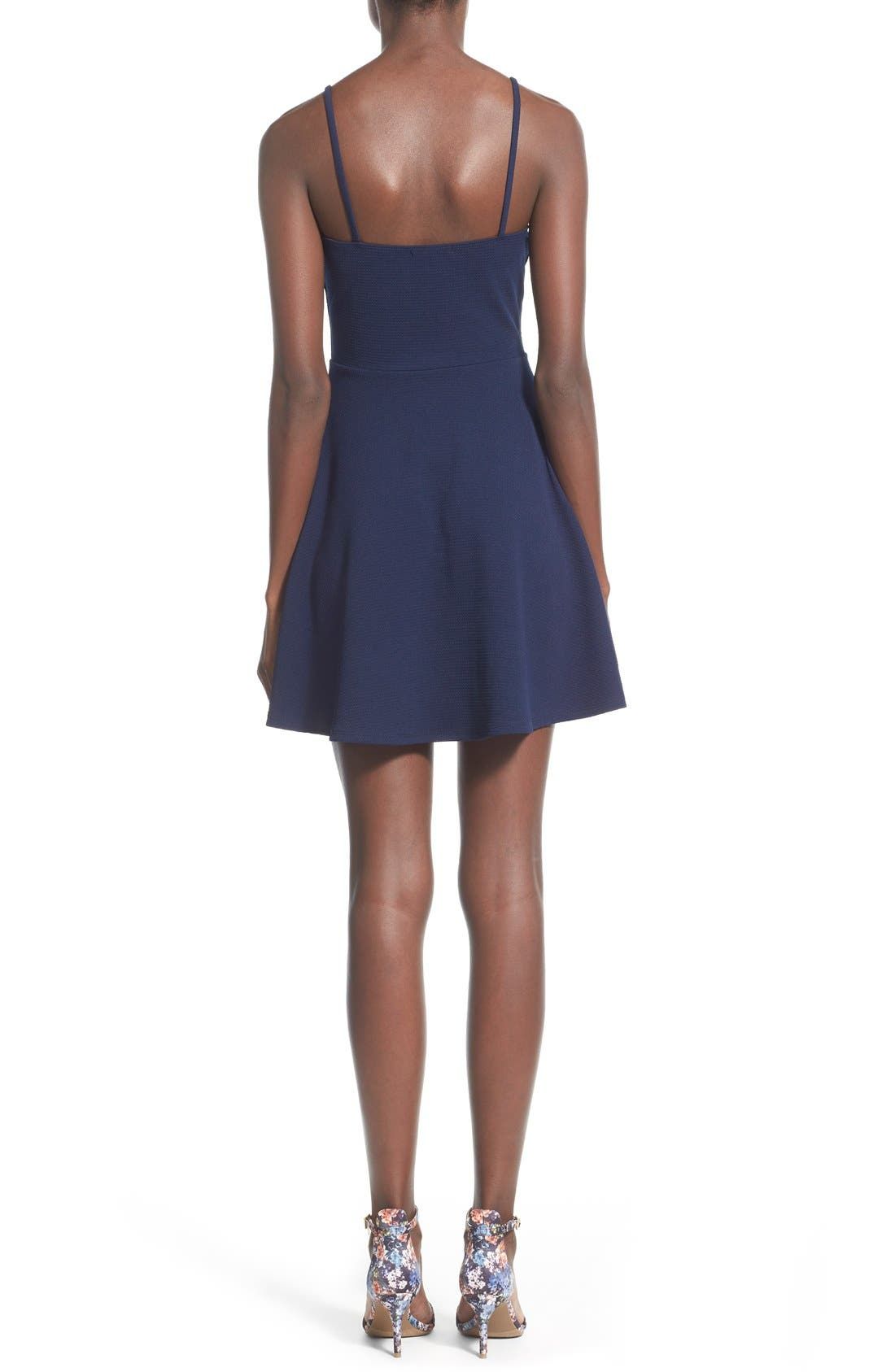 Alternate Image 2  - Soprano Front Cutout Skater Dress